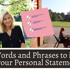 Key Words and Phrases to Include in your Personal Statement