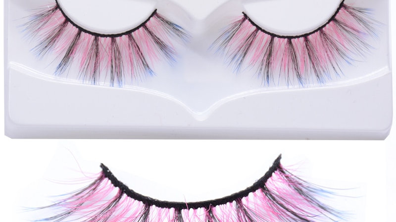 Pink Red Color Fake Eyelashes