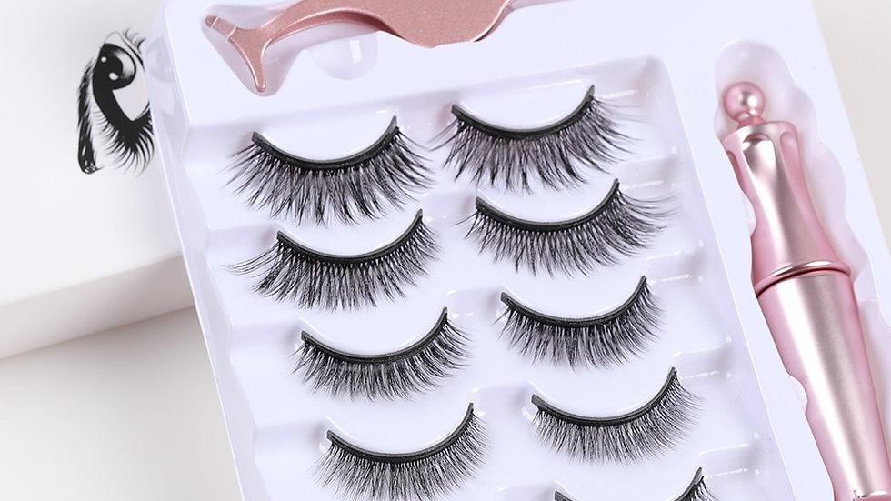 5 Pairs Magnetic Eyelashes Eyeliner