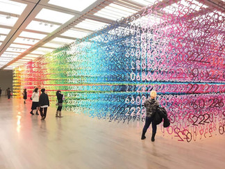 国立新美術館インスタレーション「数字の森」