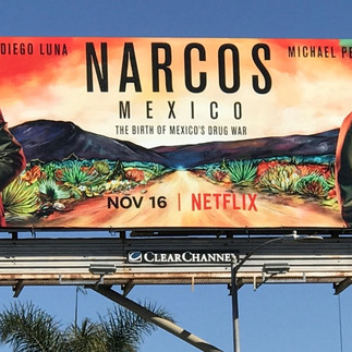 Narcos Mexico billboard