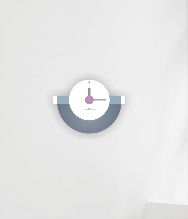 Wall Clock half round 2