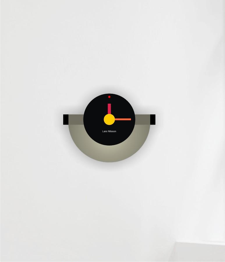 Wall Clock half round