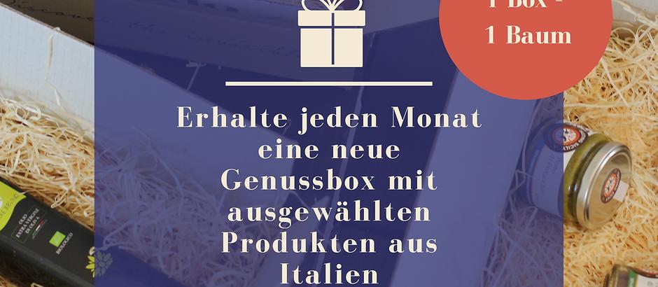 Jeden Monat eine neue Genussbox erhalten