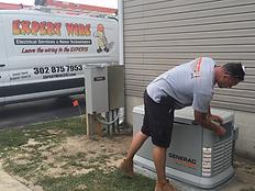 Generator service in Bridgeville, Delaware
