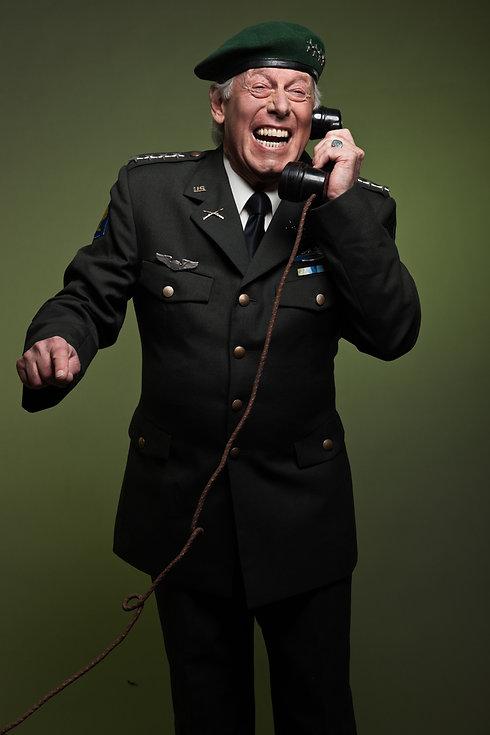 US military general wearing beret. Calli