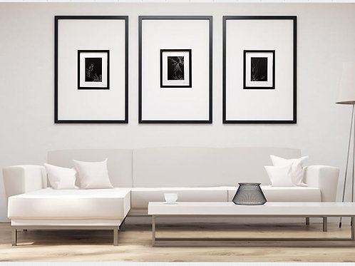 """Holding up"" triptych hand-painted wall art"