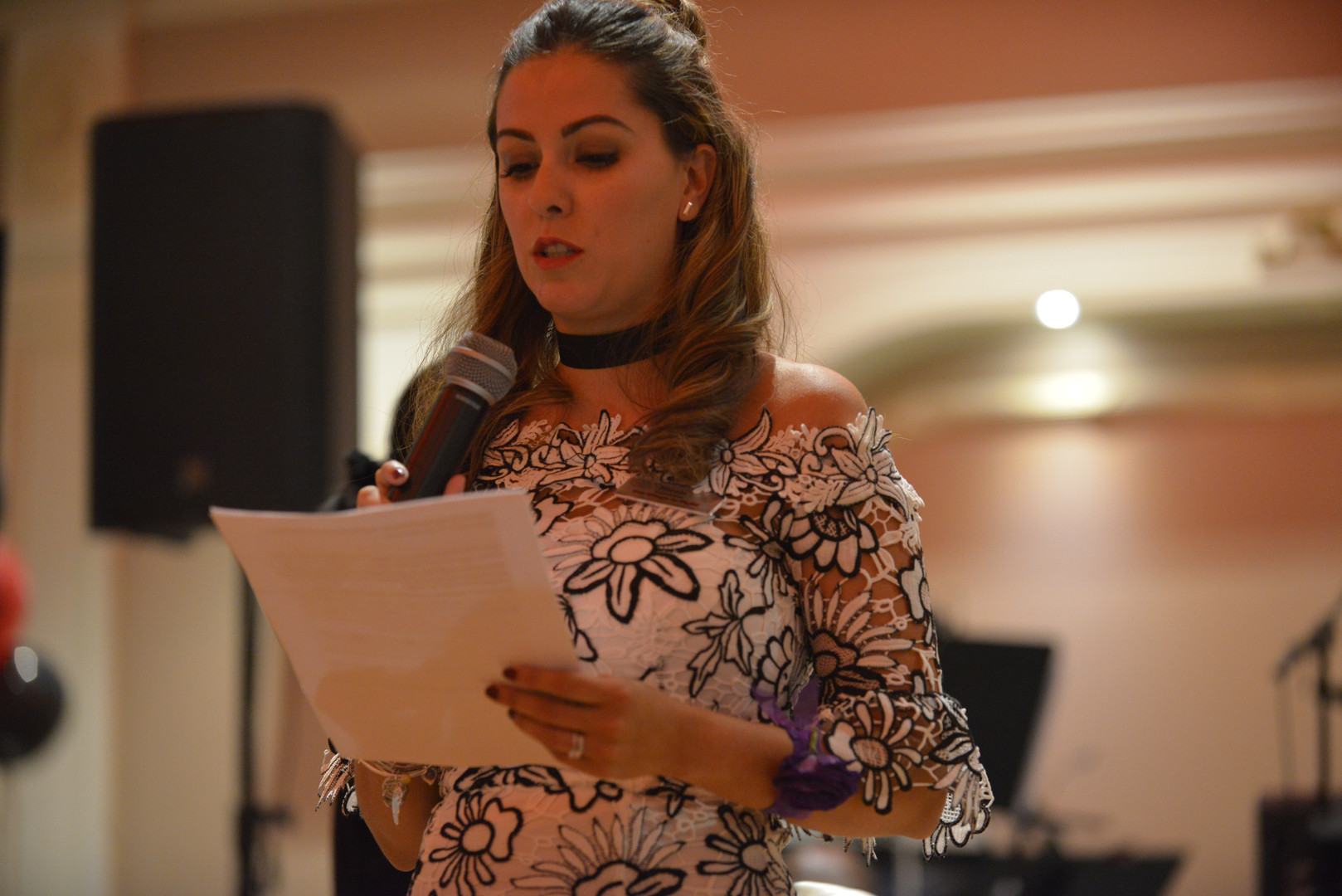 Speaking at an Our Wings to Fight Fundraiser