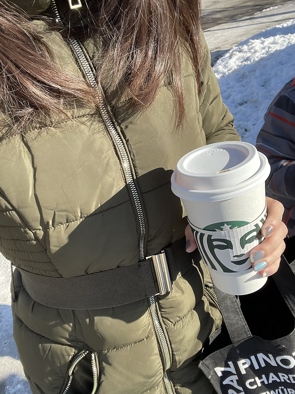 Starbucks, winter walk, life balance, treat yourself