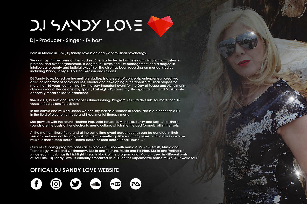 DJ SANDY LOVE EPK ENGLISH PRESS RELEASE.