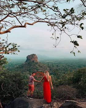 Sigiriya Lion Rock view of Pidurangala