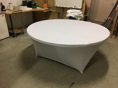 Stretchtischtuch glatt für Galatische 180cm weiß