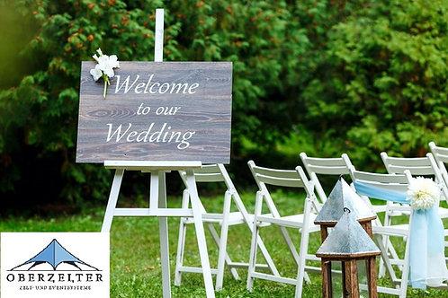 Hochzeits-Staffelei weiß