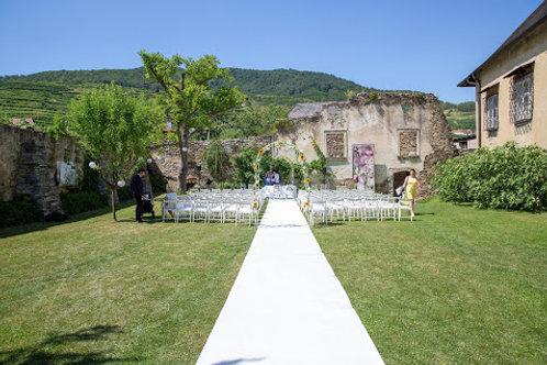 Hochzeitsteppich weiß