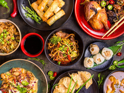 Celebrate the Chinese New Year by eating a lot of food