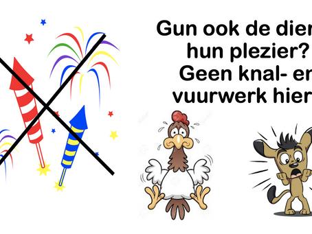 Vermijd vuurwerk bij hekwerk van het dierparkje