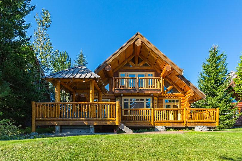 Beautiful modern log house in the mounta