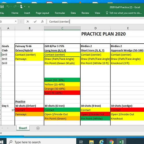 Optishot Practice Plan