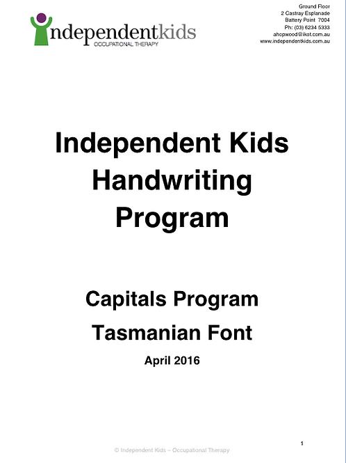 Independent Kids Handwriting Program Capitals