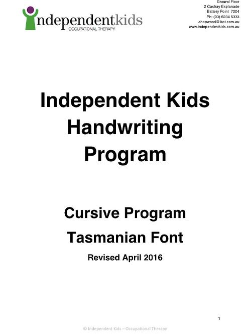 Independent Kids Handwriting Program Cursive