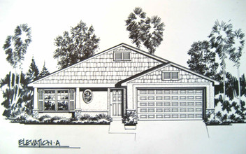 Residential Pen & Ink Simple Elevation 1