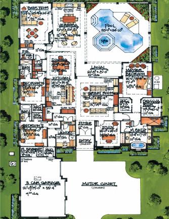 Rendered Floor Plan (Hand Drawn) 766kb c