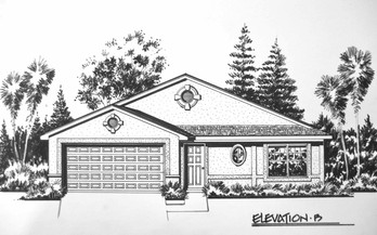 Residential Pen & Ink Simple Elevation 2