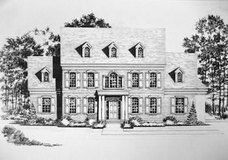 Residential Pen & Ink (Metro 7:Jefferson
