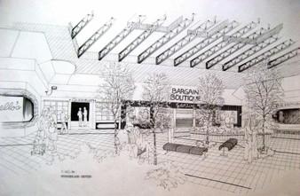 Interior Pen & Ink (Mall Design Sketch 2