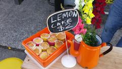nom nom lemon cake and coffee