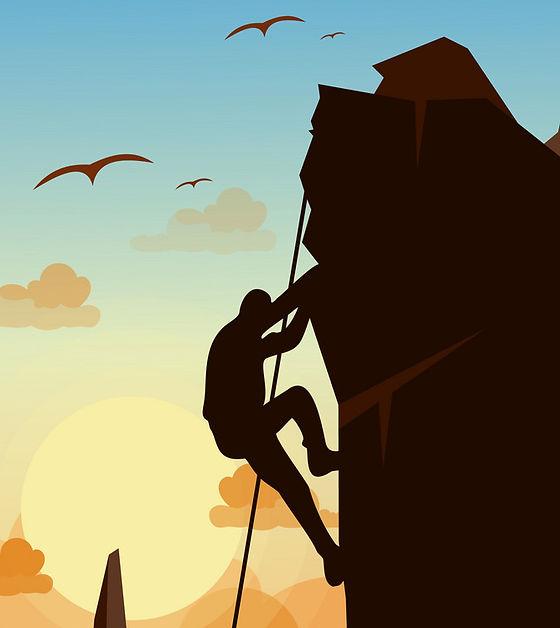 mountain-climbing-man-on-vector-17648345