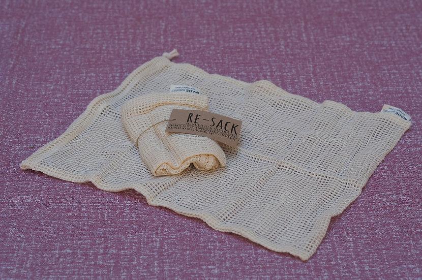 2 Bolsas cuadradas algodón