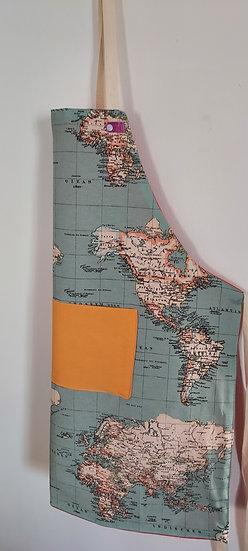Mapa-mundi azul