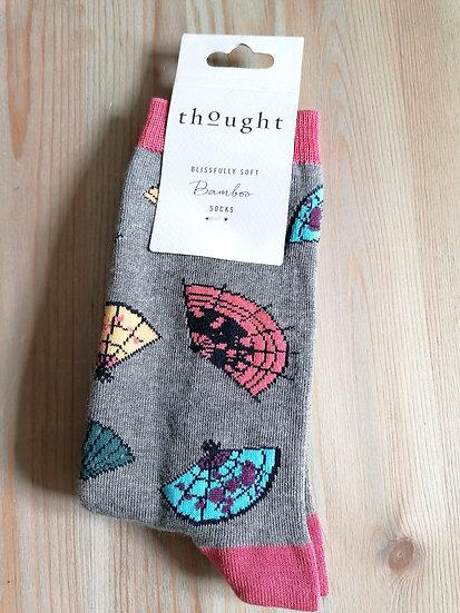Calcetines abanicos gris