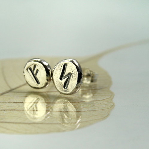Silver Rune Studs - Choose your Runes