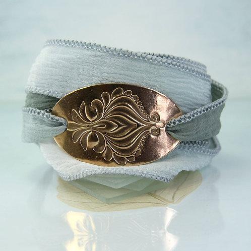 Bronze Bracelet Silk Wrap - Arabian Night