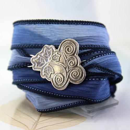 Silver Ivy Leaf Cuff Bracelet - Summer jewellery