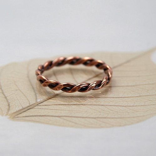 Celtic Copper Ring Twisted 1.2 mm Wire