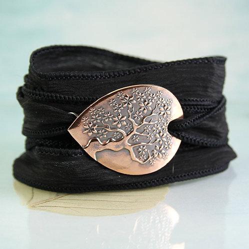 Tree of Life Copper Silk Wrap bracelet