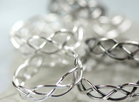 Silver Braid Rings