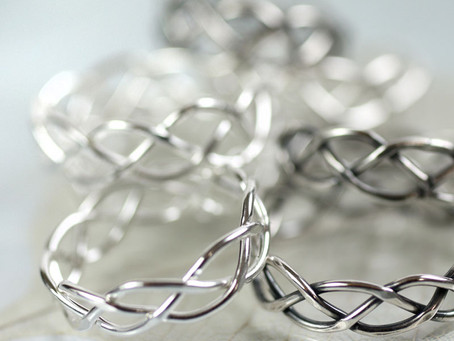 Silver Braid Rings