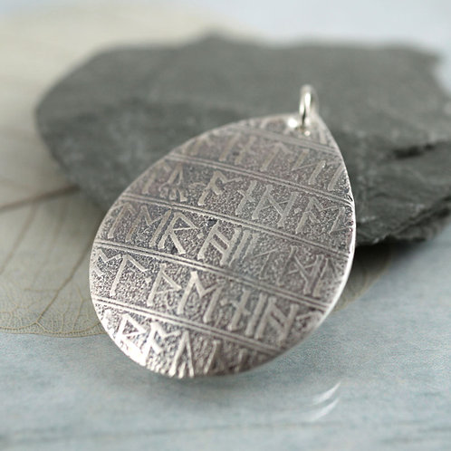 Viking Silver Rune Necklace