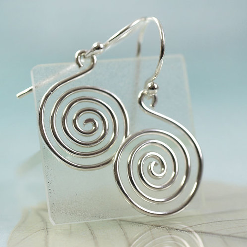 Spiral Earrings in Sterling Silver