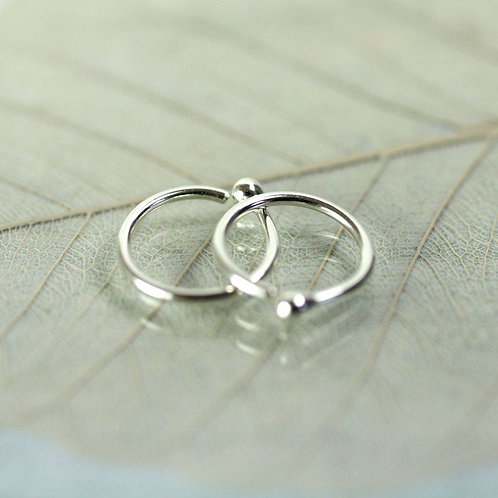 Silver Sleeper Hoops  10 mm Earrings Sterling