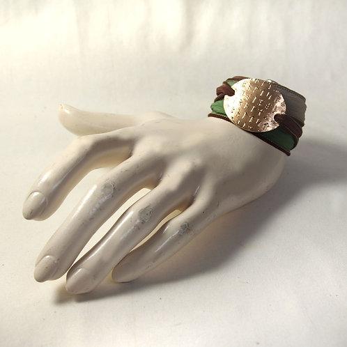 Bronze Silk Bracelet Wrist Wrap