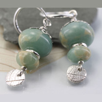 Aqua Jasper Earrings