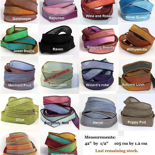 Silk Ribbon Wrap Bracelet Extra Colours