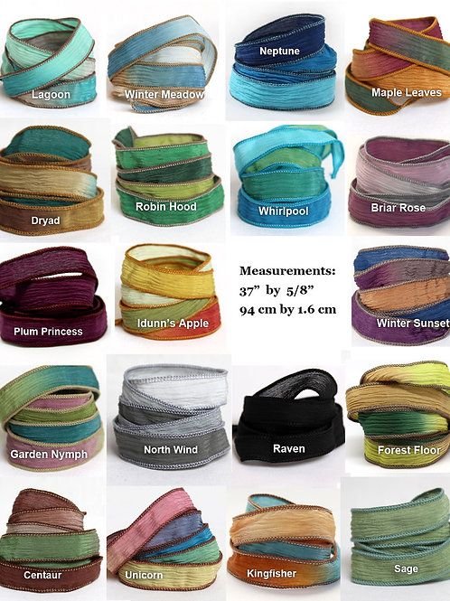 Silk Ribbons Extra Colours for Wrap Bracelet