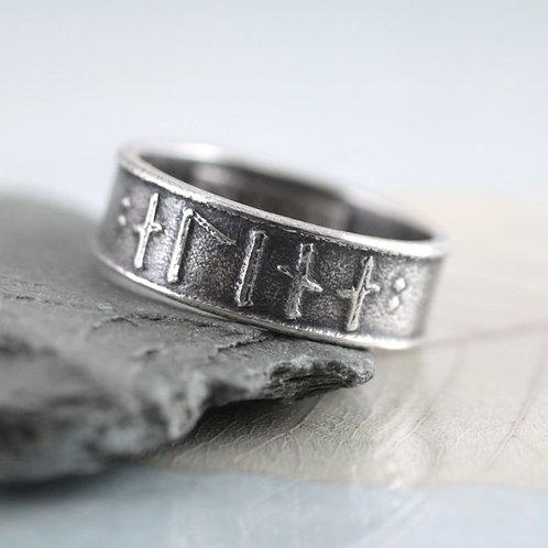Rune Ring Silver Band - Custom Viking Rings