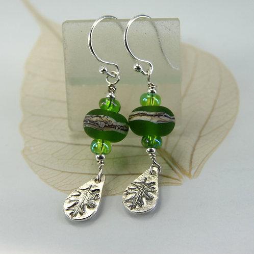 Forest Earrings with OakLeaf Dangles